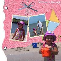 Krislynn's first time at the beach