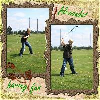 Alexander having fun...
