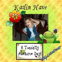 Toadly Awesome Day for Katlin