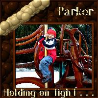parker, holding on tight