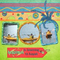 happiness is learning to kayak