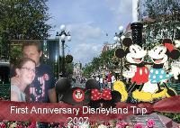first anniversary disneyland trip