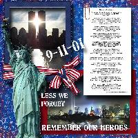9-11 REMEMBER OUR HEROES