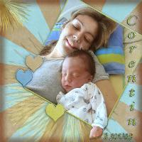sleeping twin baby corentin