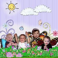 Challenge Scrap my friends baby pics