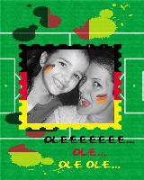 Girly soccer fans! Go Deutschland!!!