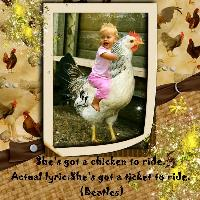 Mondegreens (chicken to ride)