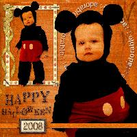 Halloween 2008: Gavin as Mickey