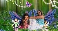 Alyshia and Kaila sitting with the Faeries