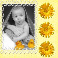 baby in yellow challenge
