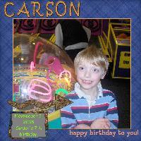 Carson is seven