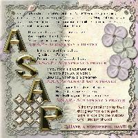A.S.A.P. - Always Say A Prayer