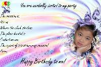 My Daughter's Bday invite