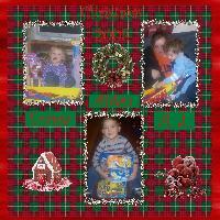 Grandkids opening Gifts