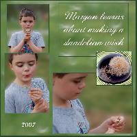 Morgan makes a dandelion wish