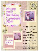 Happy Birthday Scrapbook Flair