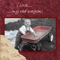 I LOVE MY RED WAGON