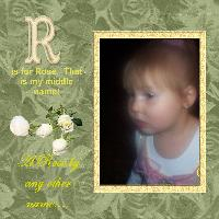 R is for....