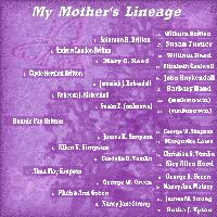 My Mothers Lineage