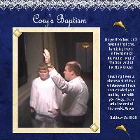 Cory Baptism