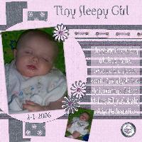 Tiny Sleepy Girl