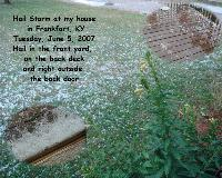 Hail Storm In June 2007