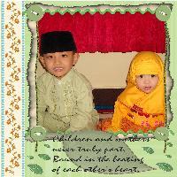 My Children in Moslem wear