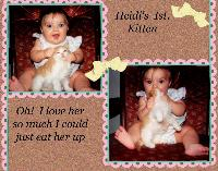 Heidi's 1st kitten