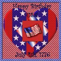 Happy Birthday USA July 4th, 2007