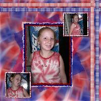 red white blue tye dye Hannah