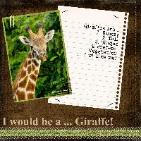 If I would be a ... Giraffe