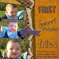 First Sweet Potato Fries