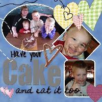 WE LIKE A BIT OF CAKE!!