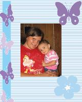 kelsie and a little angel