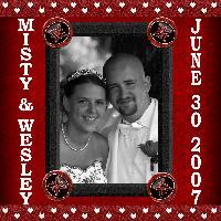 Our Wedding in b&w