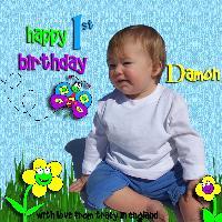 Damon's 1st birthday