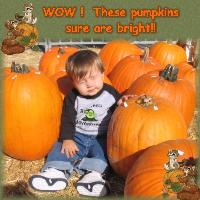 Seth In The Pumpkin Patch