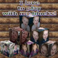 I love my to play with my blocks!
