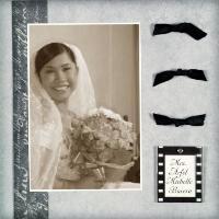 Happy Bride (sepia)