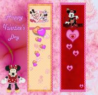 Valentine Bookmarks-Mickey & Minnie