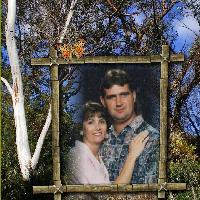 Donna & Gordon in my garden.