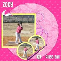 Zoey Plays Ball