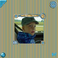 Devin on the way to see Thomas the Train