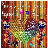 Happy 3rd Birthday ScrapbookFlair