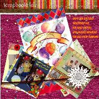 scrapbookflair 3rd birthay challenge scrap