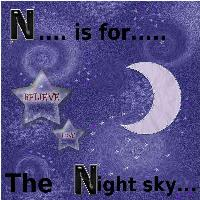 the night sky....