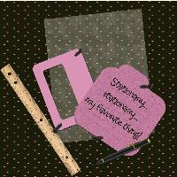 Pink and black stationary