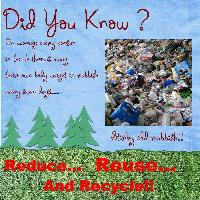 REDUCE,REUSE,RECYCLE (factS)