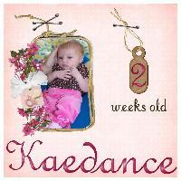 Kaedance 2 weeks old