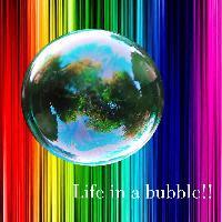 bright clors in a bubble!